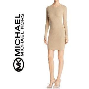 NWT MICHAEL KORS Metallic Ribbed Sweater Dress